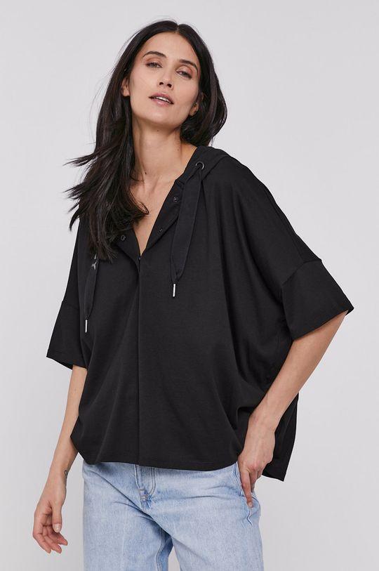 czarny Dkny - T-shirt
