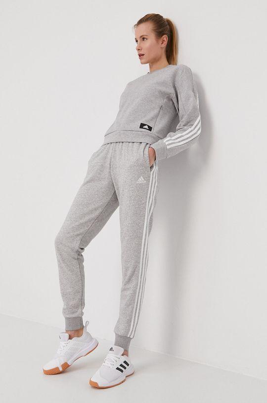 adidas Performance - Bluza jasny szary