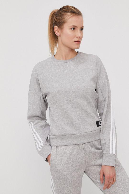 jasny szary adidas Performance - Bluza
