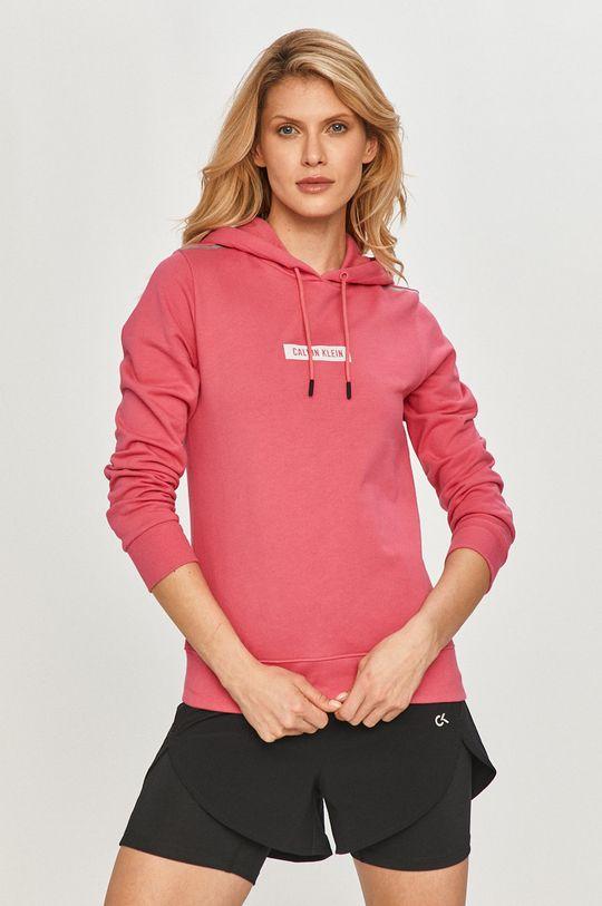ostry różowy Calvin Klein Performance - Bluza bawełniana Damski