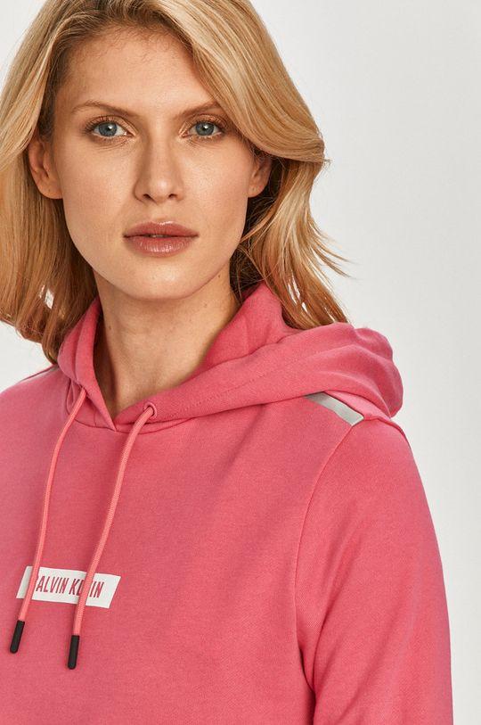 ostry różowy Calvin Klein Performance - Bluza bawełniana
