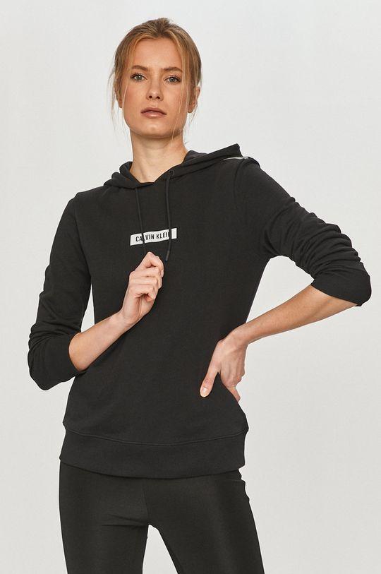 czarny Calvin Klein Performance - Bluza bawełniana Damski