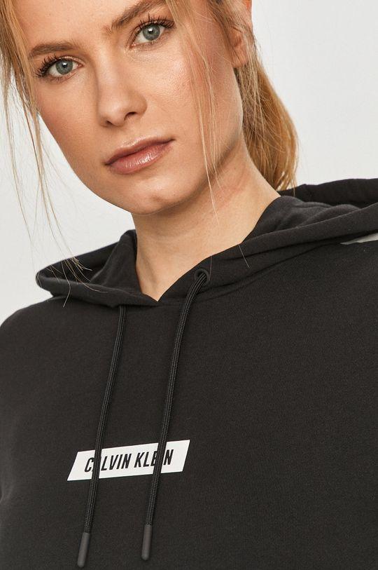 czarny Calvin Klein Performance - Bluza bawełniana