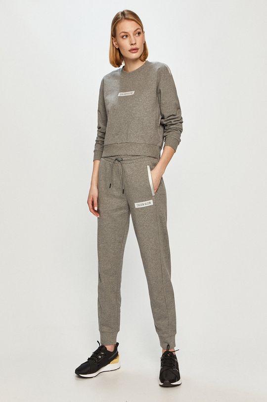Calvin Klein Performance - Bavlněná mikina světle šedá
