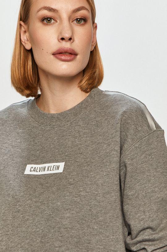světle šedá Calvin Klein Performance - Bavlněná mikina