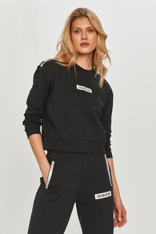 čierna Calvin Klein Performance - Bavlnená mikina Dámsky