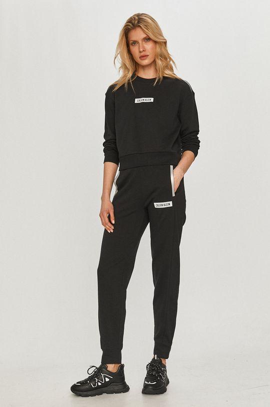 Calvin Klein Performance - Bavlnená mikina čierna