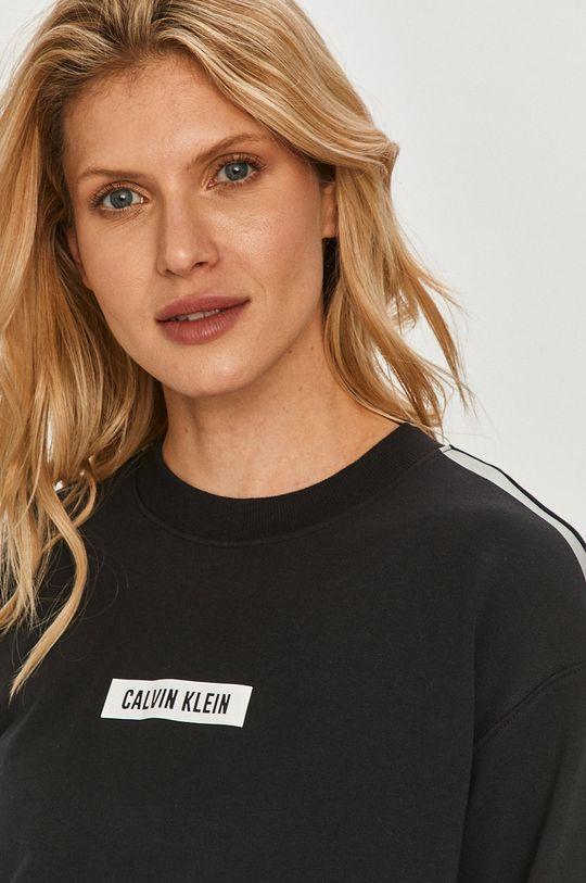 čierna Calvin Klein Performance - Bavlnená mikina