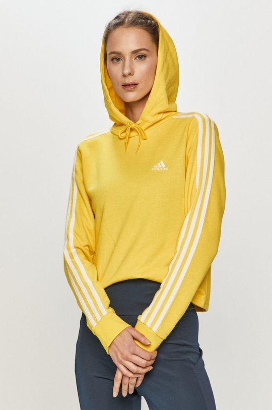 žltá adidas - Mikina Dámsky