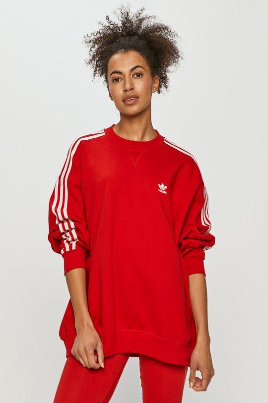 červená adidas Originals - Bavlněná mikina Dámský