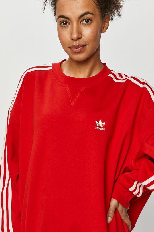 červená adidas Originals - Bavlněná mikina