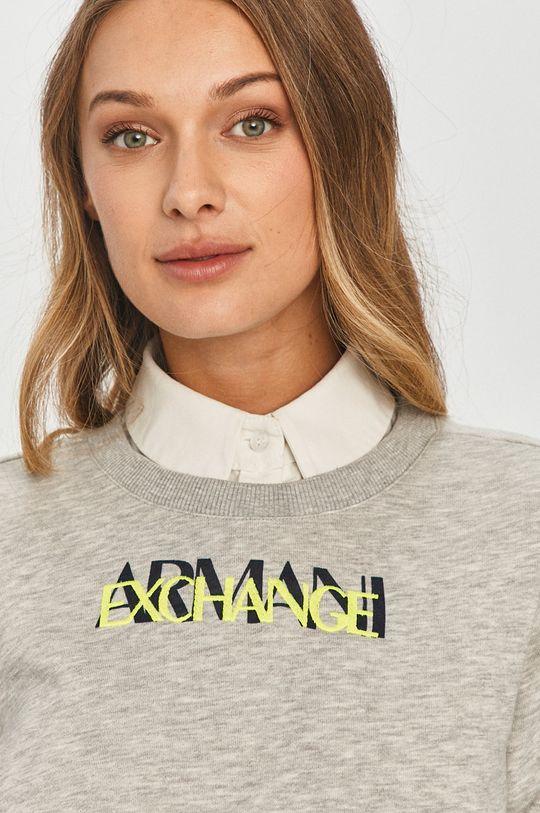 svetlosivá Armani Exchange - Mikina