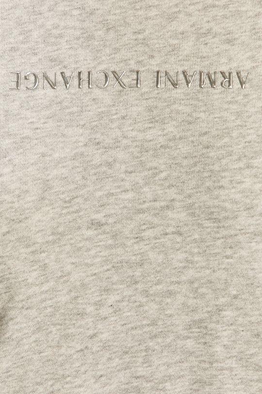světle šedá Armani Exchange - Bavlněná mikina