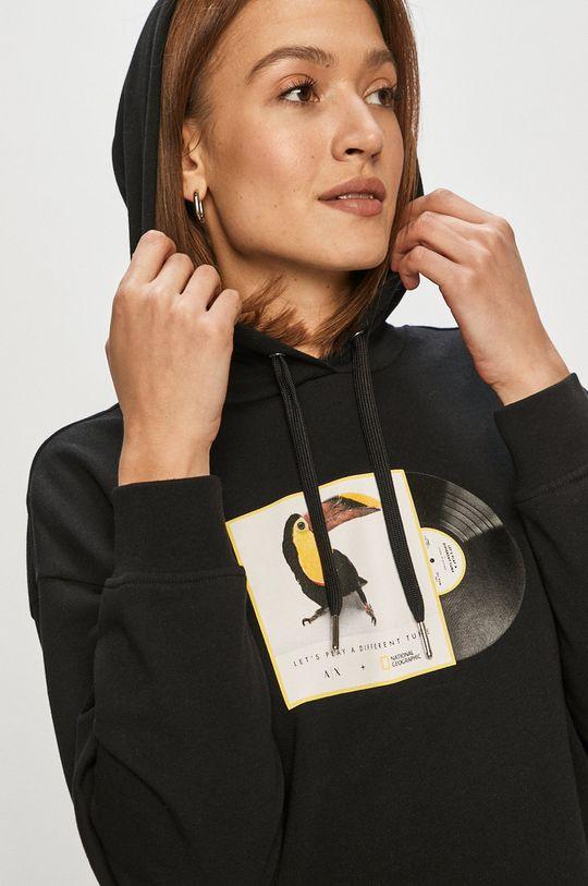 negru Armani Exchange - Hanorac de bumbac x National Geographic De femei