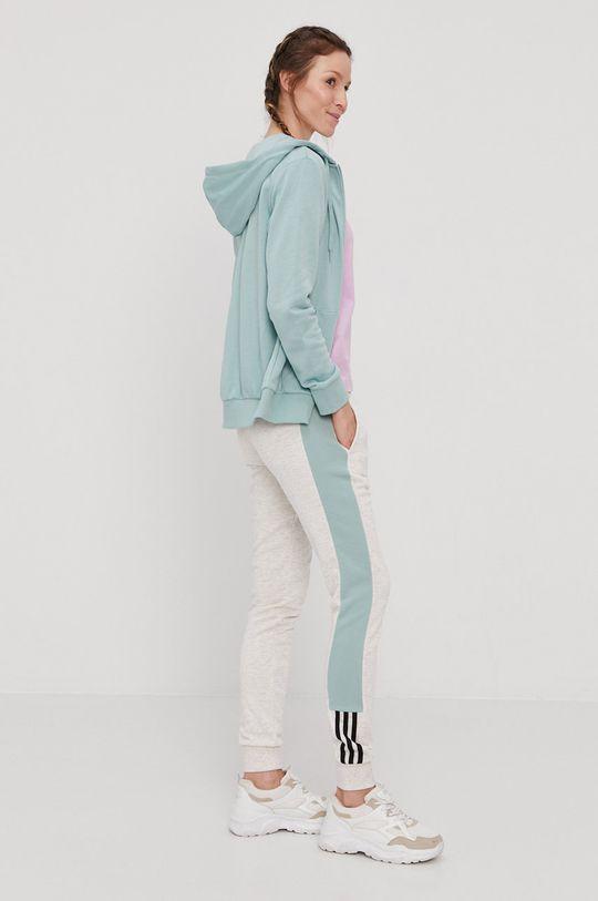 brudny zielony adidas - Bluza