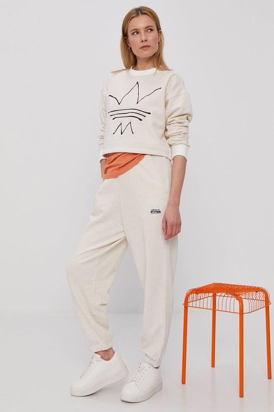 bej adidas Originals - Bluza