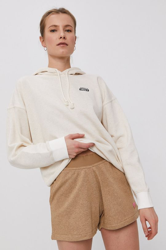kremowy adidas Originals - Bluza