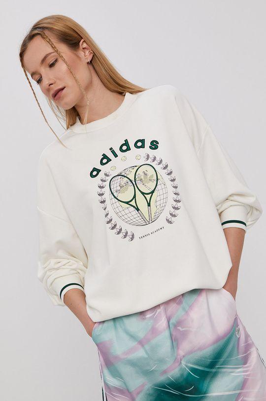 biały adidas Originals - Bluza GRAPHIC Damski