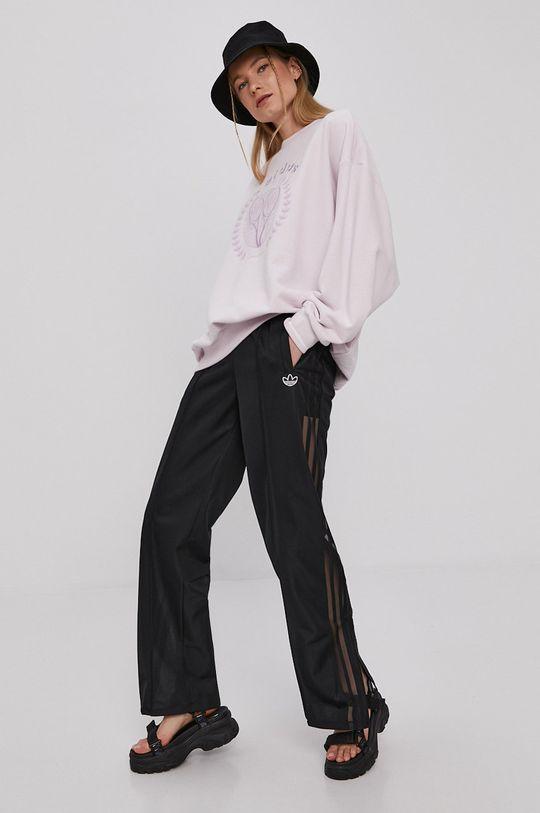 lawendowy adidas Originals - Bluza GRAPHIC Damski