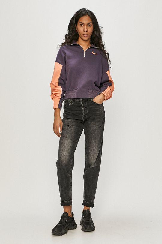 Nike Sportswear - Bluza purpurowy