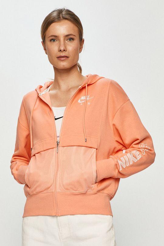 oranžová Nike Sportswear - Mikina Dámsky