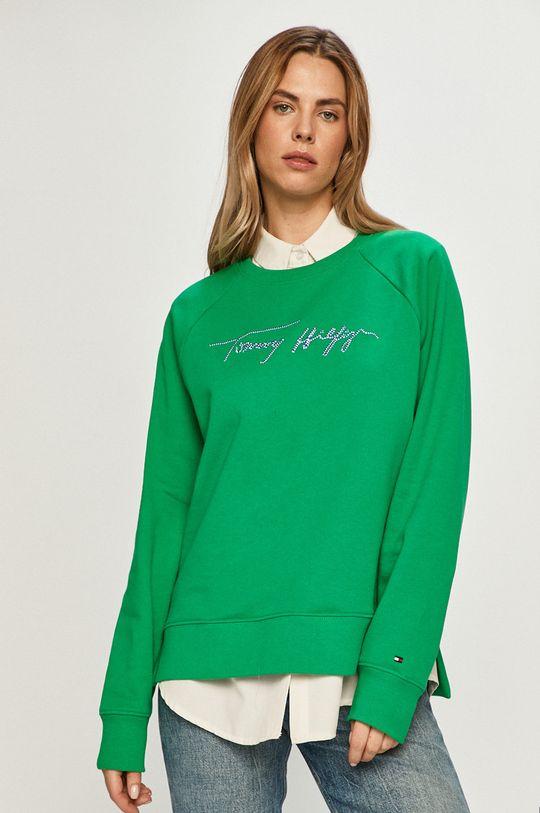 zelená Tommy Hilfiger - Bavlnená mikina Dámsky