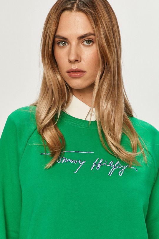 zelená Tommy Hilfiger - Bavlnená mikina