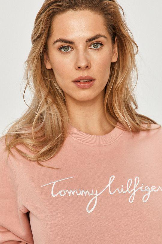 ružová Tommy Hilfiger - Bavlnená mikina