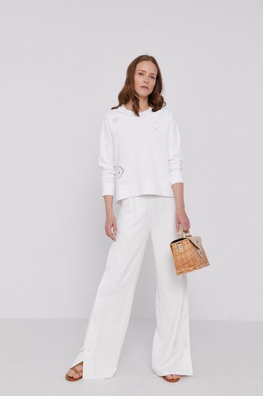 Tommy Hilfiger - Bluza bawełniana biały