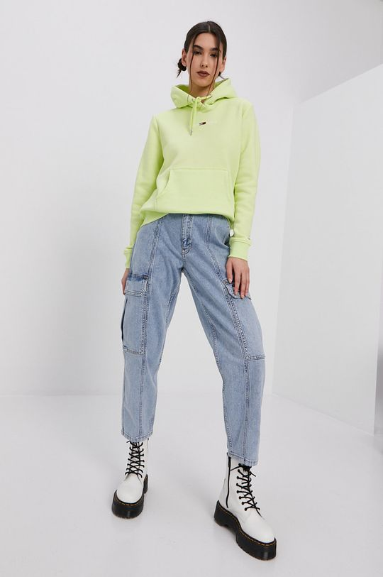 žlutě zelená Tommy Jeans - Mikina Dámský