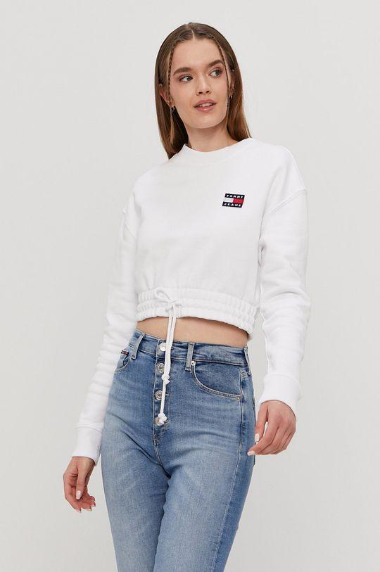 biela Tommy Jeans - Bavlnená mikina Dámsky