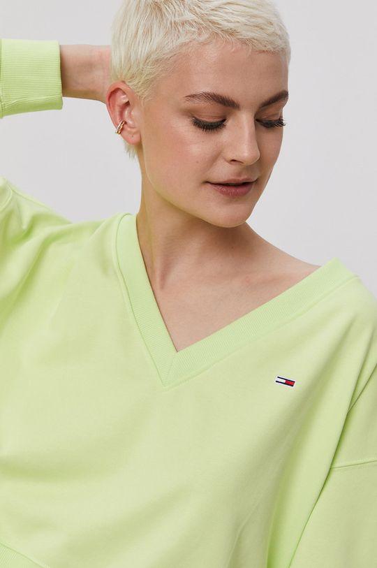 żółto - zielony Tommy Jeans - Bluza