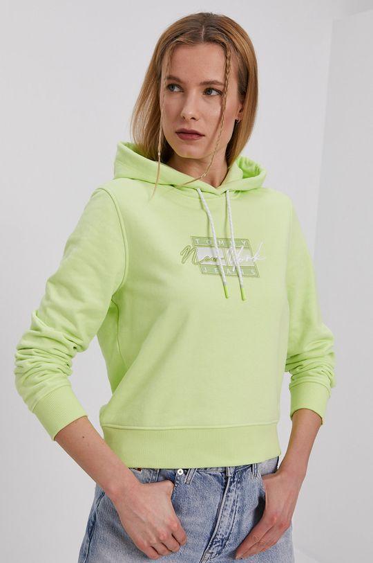 žlto-zelená Tommy Jeans - Mikina Dámsky