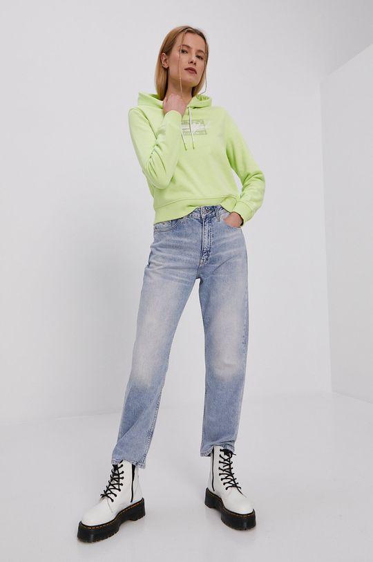 Tommy Jeans - Mikina žlto-zelená