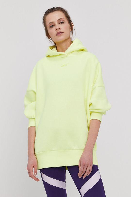 Reebok - Bluza żółto - zielony