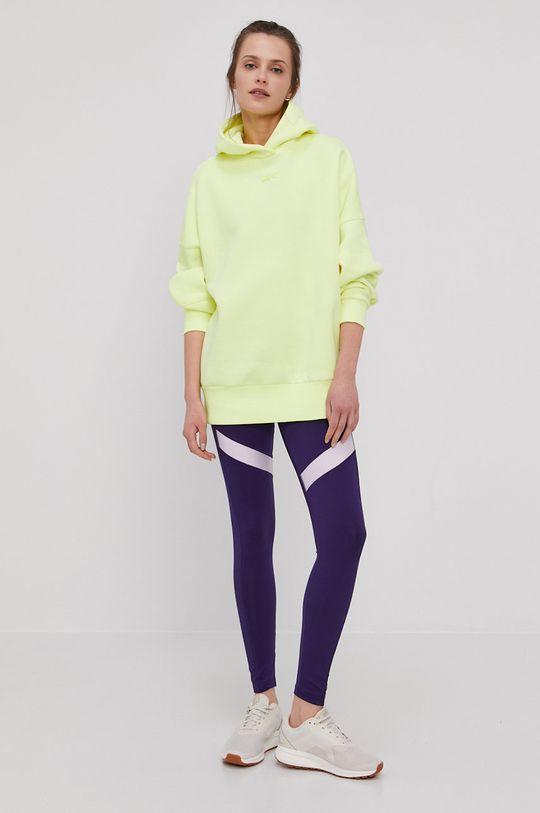żółto - zielony Reebok - Bluza