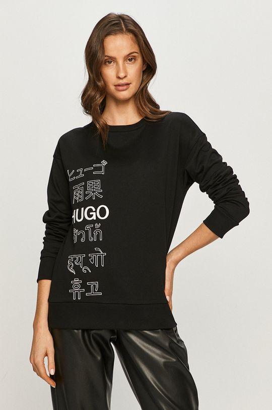 čierna Hugo - Bavlnená mikina Dámsky