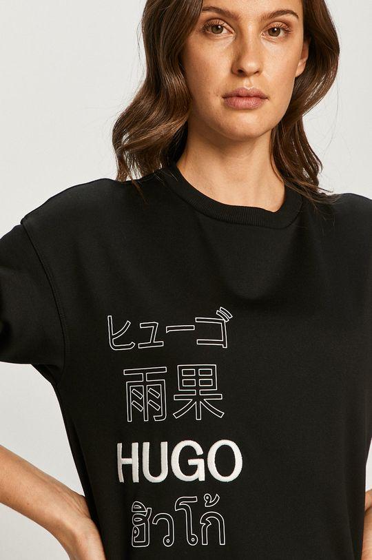 čierna Hugo - Bavlnená mikina