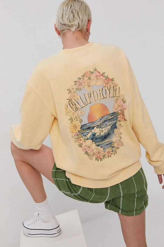 jasny żółty Billabong - Bluza x The Salty Blondie Damski