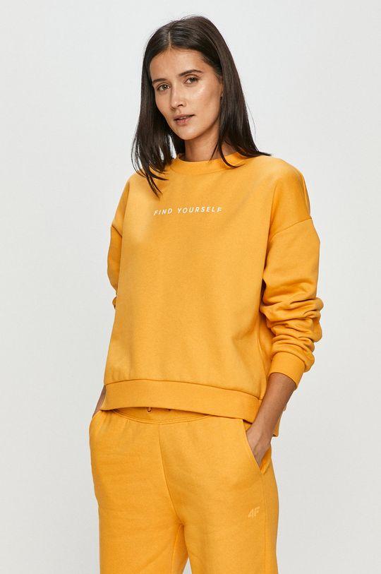 żółty 4F - Bluza D4Z20.BLD244 Damski