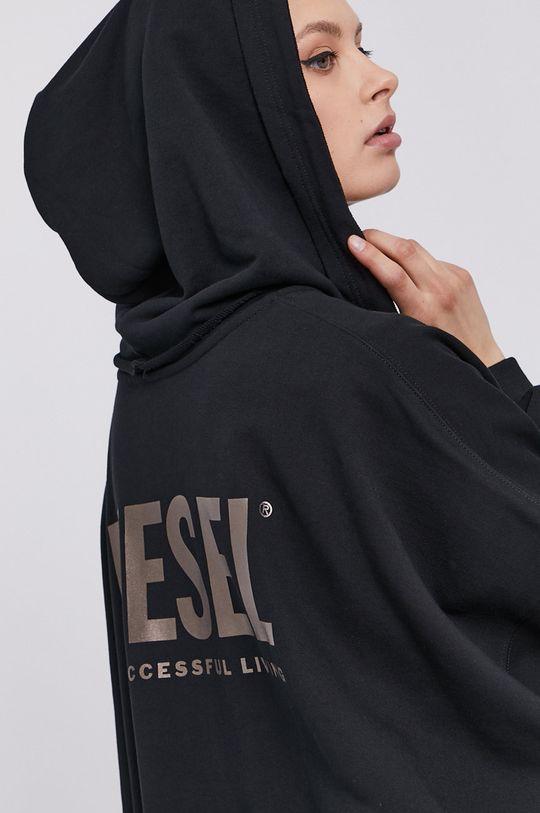 czarny Diesel - Bluza bawełniana Damski