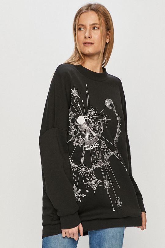 czarny Trussardi Jeans - Bluza bawełniana Damski