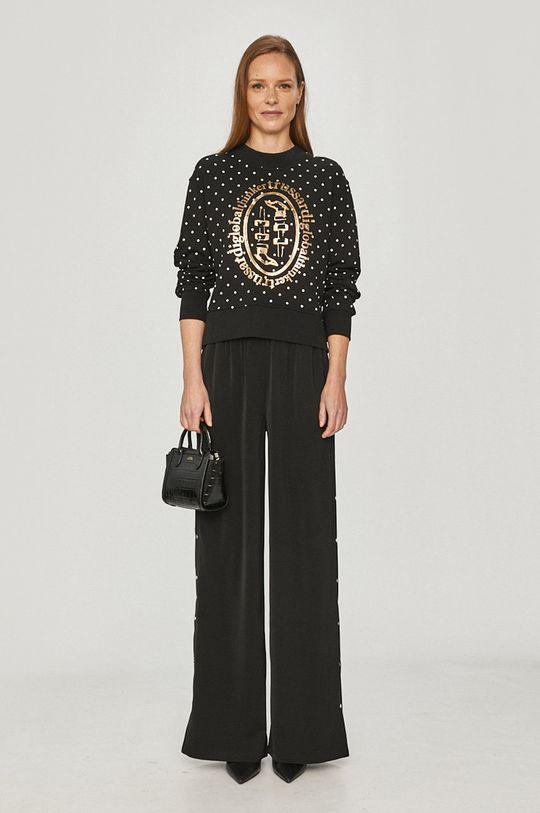 Trussardi Jeans - Bluza bawełniana czarny