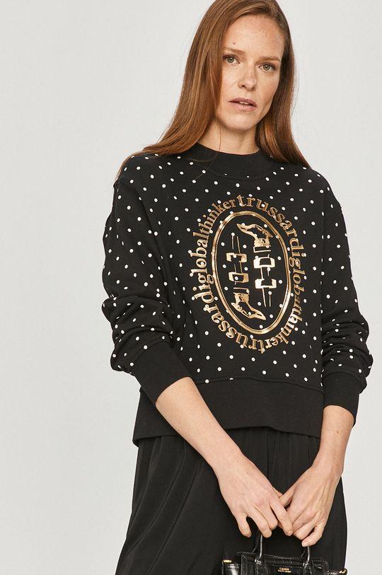 czarny Trussardi Jeans - Bluza bawełniana