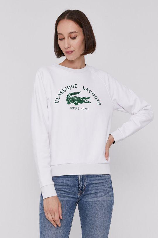 Lacoste - Bluza biały