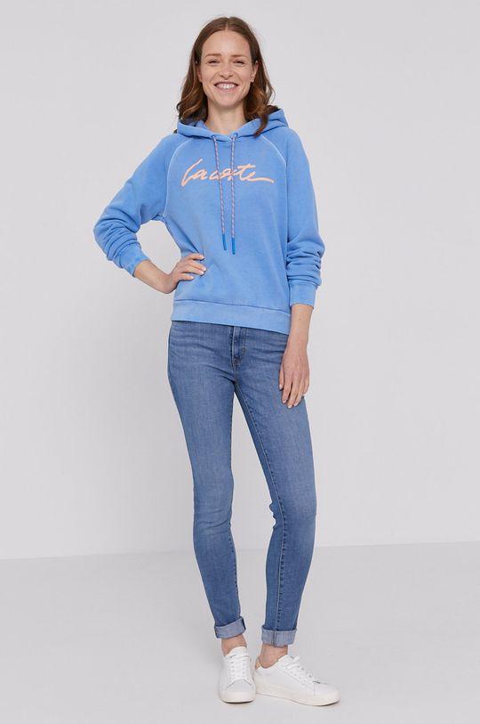 Lacoste - Bluza bawełniana niebieski