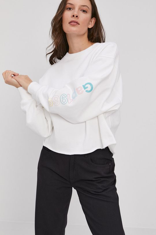 biały GAP - Bluza bawełniana Damski