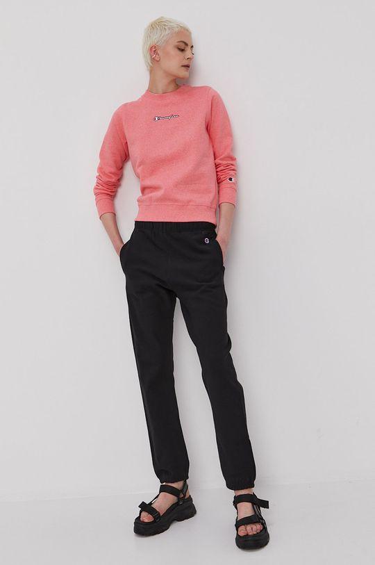 Champion - Bluza bawełniana różowy