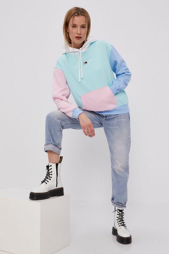 Tommy Jeans - Bluza turkusowy