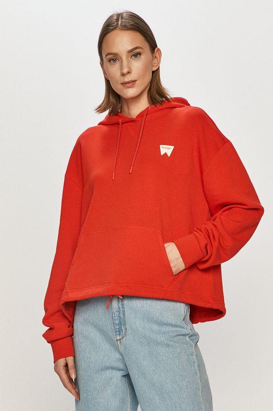 červená Wrangler - Bavlnená mikina Dámsky